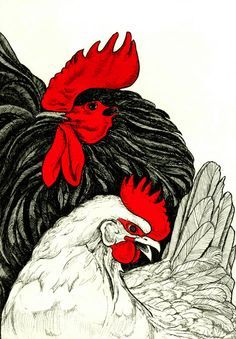 Image result for white chicken woodblock