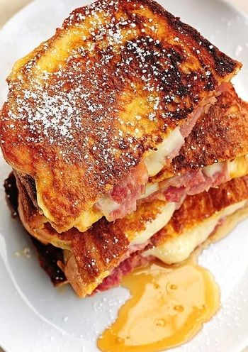 Monte Cristo  Easy to make sandwich. Best with coffee, tea or even juices.   Click image to see recipe
