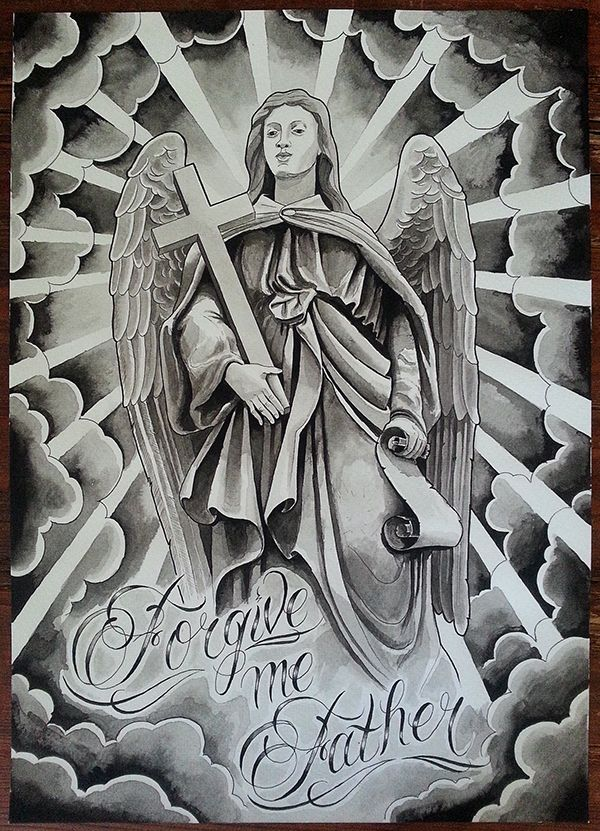 17 best religious tattoo flash images on pinterest religion tattoos religious tattoos and. Black Bedroom Furniture Sets. Home Design Ideas