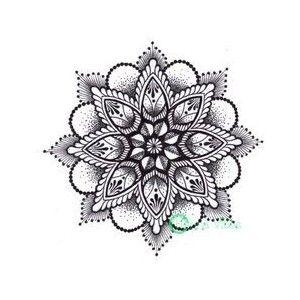 Dotwork mandala by Mish at Henna Vibes Body Art Henna - Polyvore