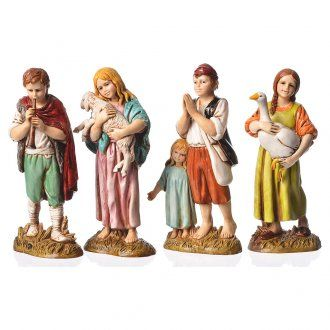 Niños 4 figuras belén 12 cm Moranduzzo | venta online en HOLYART