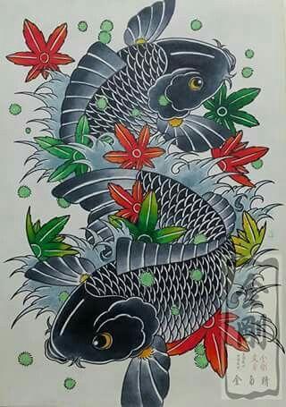 94 best koi tattoo images on pinterest japanese art koi carp and japanese tattoos - Dessin dragon japonais ...