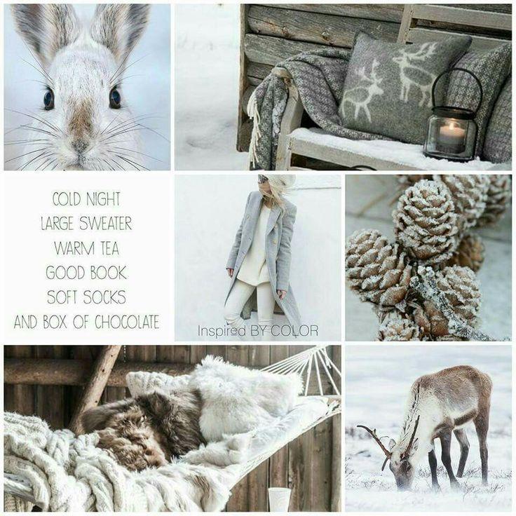 Moodboard InspiredBYCOLOR #winter #colors