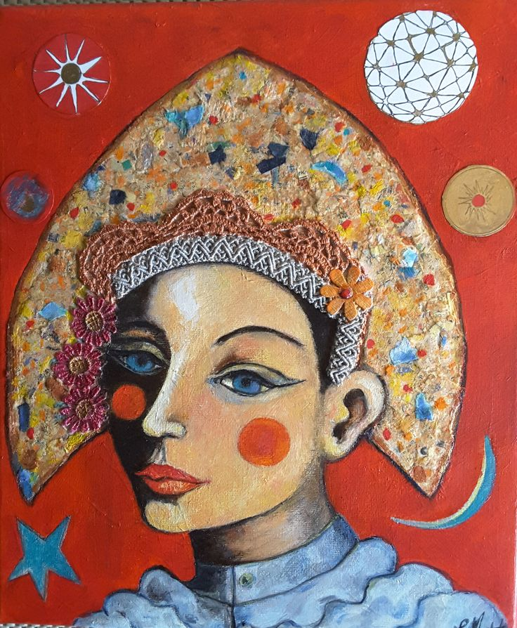 Lynne Mettam, Columbina, Oil and Mixed Media on Canvas, $370