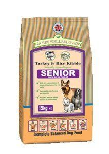 James Wellbeloved Dog Food Senior Turkey and Rice Kibble 15kg This is a top quality pick in the best selling items in Pet Supplies category in UK. Click below to see its Availability and Price in YOUR country.