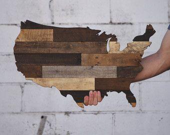 United States Sign United States Wood United by HeartOfTimber