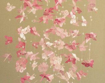 Bling - Bling mariposa monarca lámpara móvil - perfectamente rosa