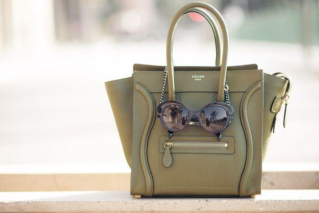 Wearing Wendy's sunglasses ;)    http://www.wendyslookbook.com/2012/05/olive-leopard-spots-celine-luggage-micro/