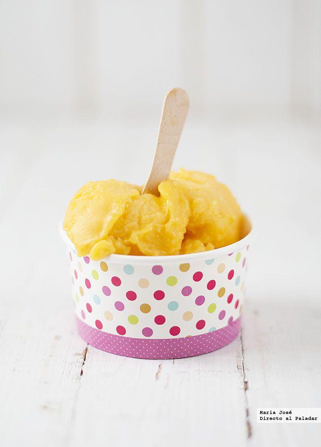 Sorbete de mango y naranja. Receta con Thermomix
