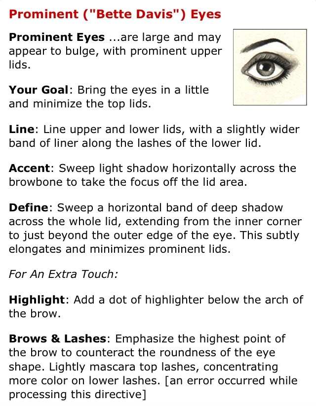 For prominent/potruding eye.