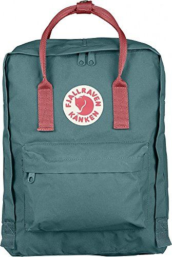 Fjallraven Kanken Classic Backpack Frost Green Peach Pink...
