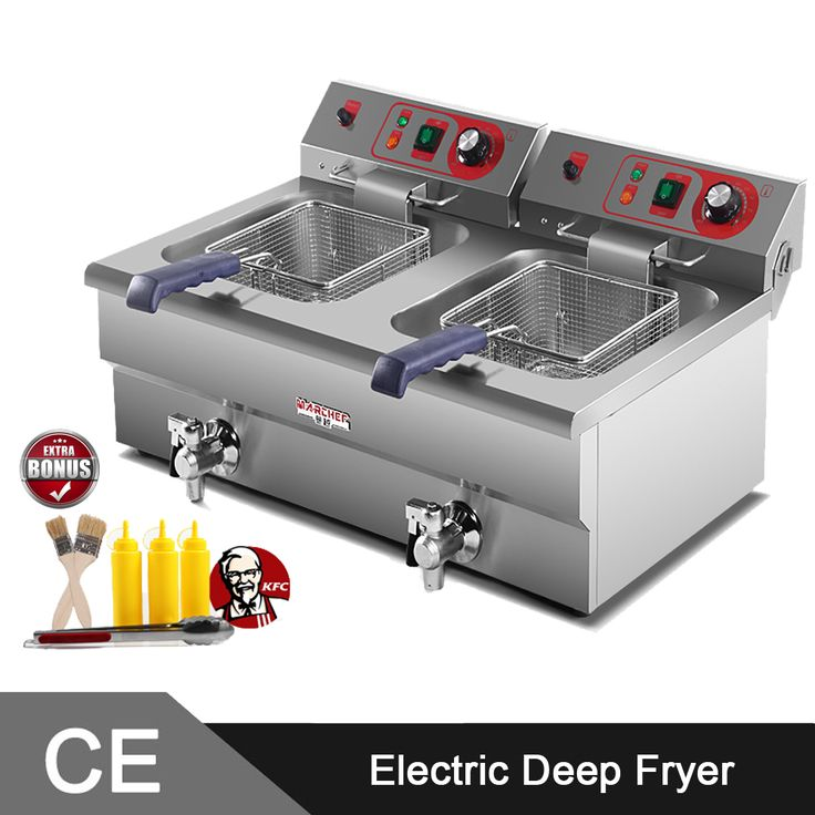 Find More Electric Deep Fryers Information about 5000W Twin 16L Tank  Stainless Steel Commercial Electirc Deep Fat Fryer Machine,High Quality machine sheet,China machine digging Suppliers, Cheap machine jewelry from Guangzhou Sanyue Food Machinery Co.,Ltd on Aliexpress.com
