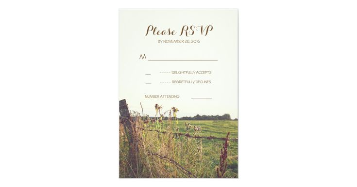 rustic country wedding reply cards