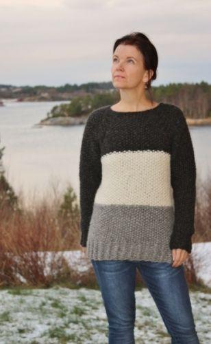 Garnpakke fra min-design-strikk til genser i perlestrikk, i DROPS Cloud