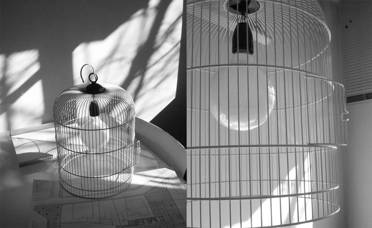 SYAA | FlyAway www.syaa.ro #design #object #lamp #bird_cage #cage #light_bulb #light #metal