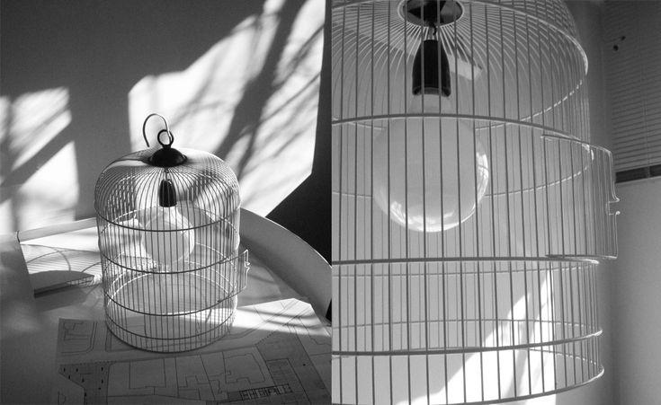 SYAA | FlyAway www.syaa.ro #design #object #lamp #bird_cage #cage #light_bulb #light #metal