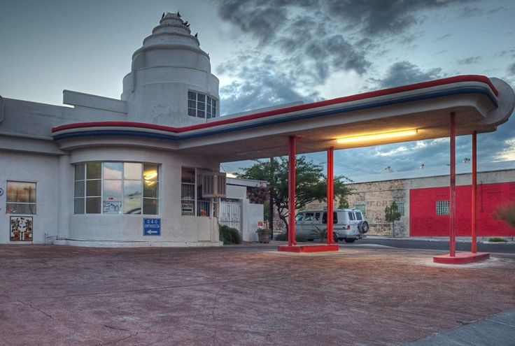 Abandoned places: Art Deco gas station. - Perkin-warbeck