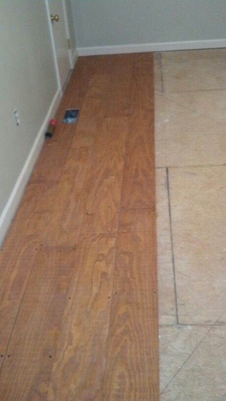 Ended Up Using Screws Our Subfloor Was Really Uneven To