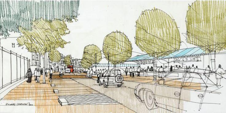 Architectural Illustrator Richard Carman- Harlesden Charter