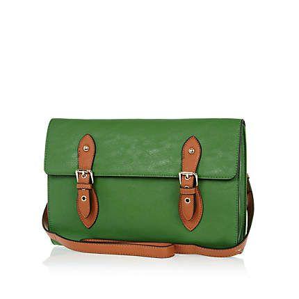 Green cross body satchel - cross body bags - bags / purses - women