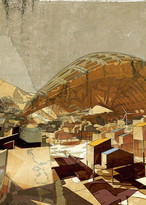 The Outer City Settlement by Lekan Jeyifous