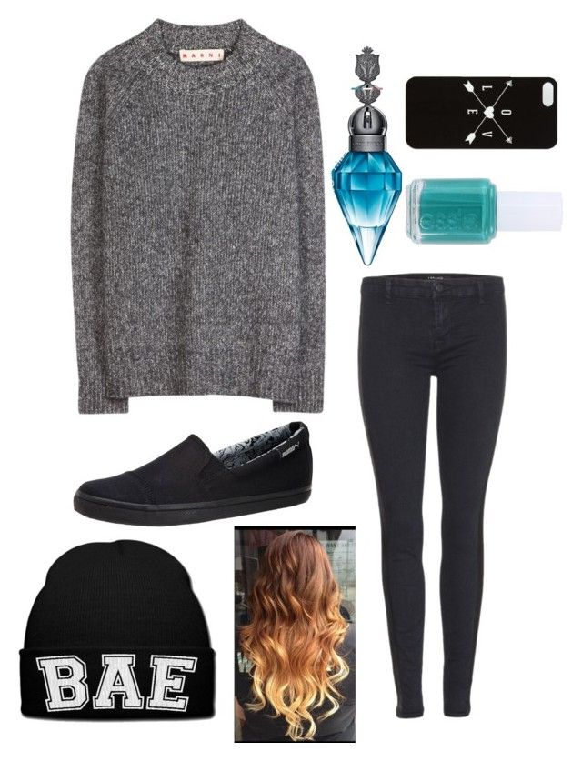 """""""Since I haven't posted in a while"""" by estherlillymae ❤ liked on Polyvore featuring Marni, Puma, J Brand and Essie"""