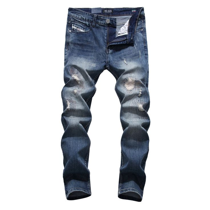 26.39$  Buy here - http://ali2zn.shopchina.info/go.php?t=32787473977 - Original New Hot Sale Fashion Men Jeans Dsel Brand Straight Fit Ripped Jeans Italian Designer Distressed Denim Jeans Homme!701-1 26.39$ #shopstyle