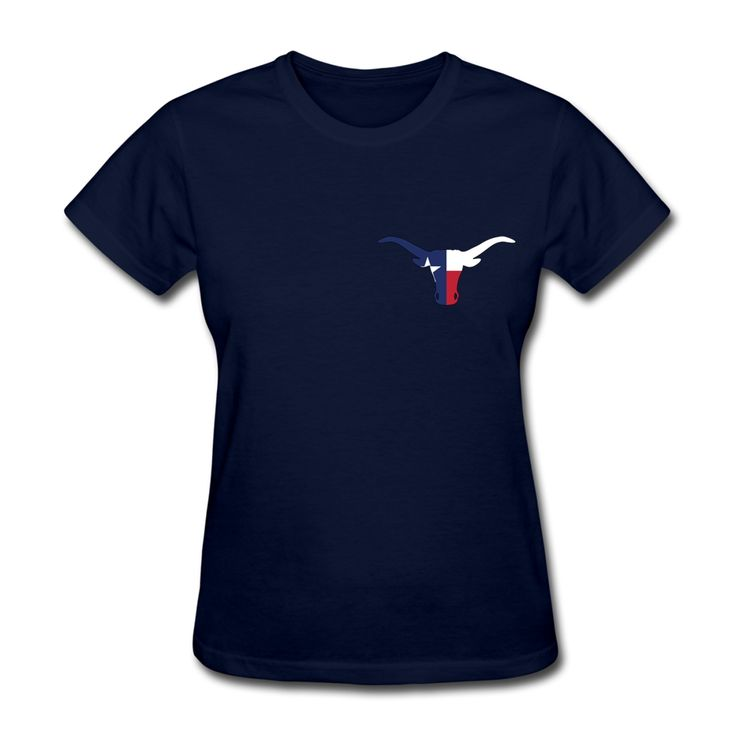 Avant-Garde Texas longhorn Round Collar Short Sleeves t shirt websites Women Tops