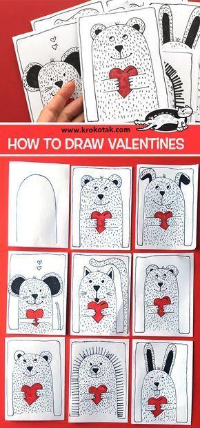krokotak | How to draw Valentines
