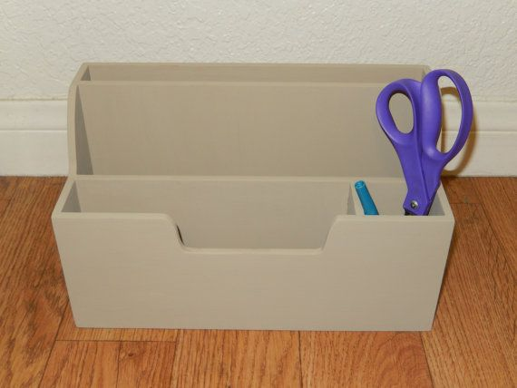 Vintage Taupre Office Organizer ... Beige Desk by SeaGreenSeeBlue, $15.99