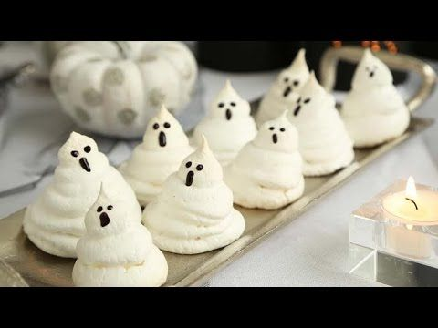 Her 4-Ingredient Ghost Meringues Are the Perfect Halloween Treat