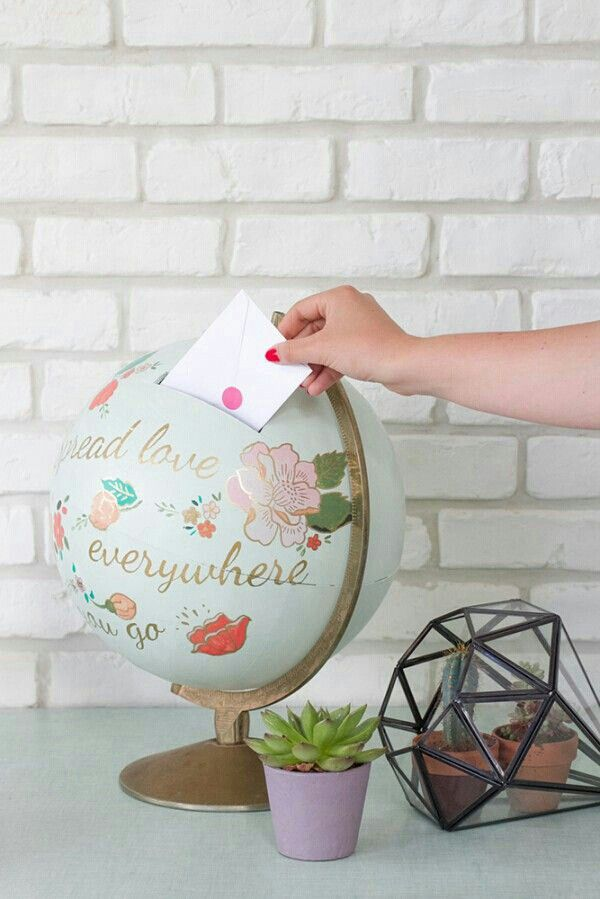 """Cute idea for guests to drop wedding cards or even as a""""honeymoon fund"""""""