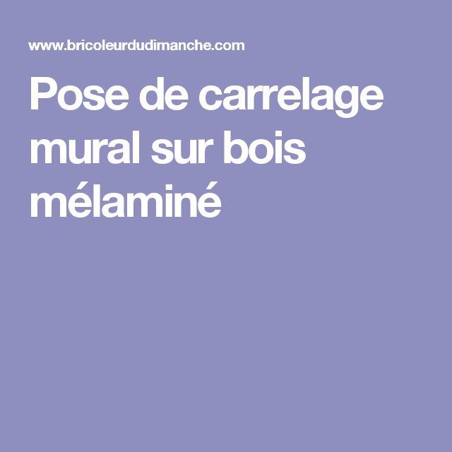 Les 25 meilleures id es de la cat gorie pose carrelage for Pose carrelage mural sur ancien carrelage