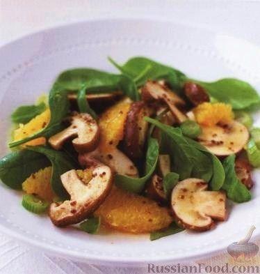 Рецепт: Салат из грибов и апельсинов на RussianFood.com