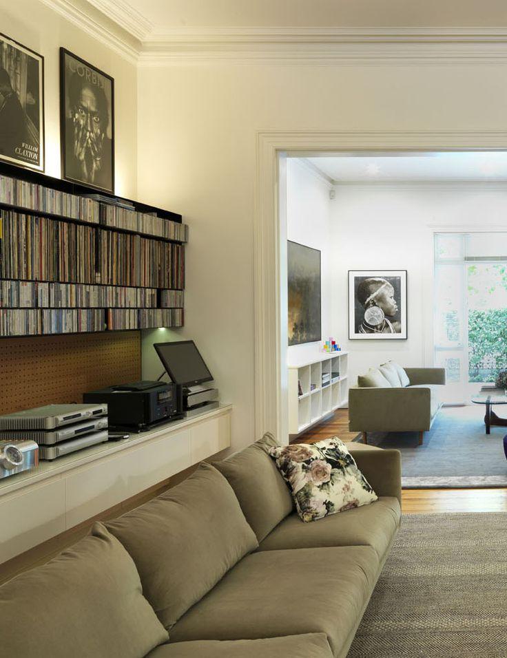 WOOLLAHRA TERRACE   alwill  #interiors #livingroom #bookshelf #lounge