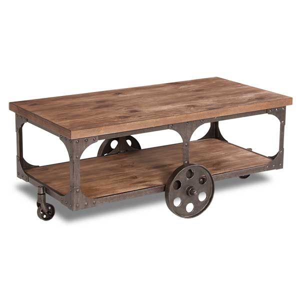 Rustic Cocktail Table On Wheels By Ashley Furniture Is Now Available At  American Furniture Warehouse. Shop Our Great Selection And Save!