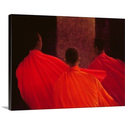 Canvas On Demand Four Monks by Lincoln Seligman Painting Print on Canvas