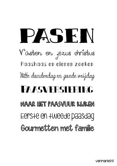 Betekenis #Pasen - #Quotes - Buy it at www.vanmariel.nl - Poster € 3,95 - Card € 1,25