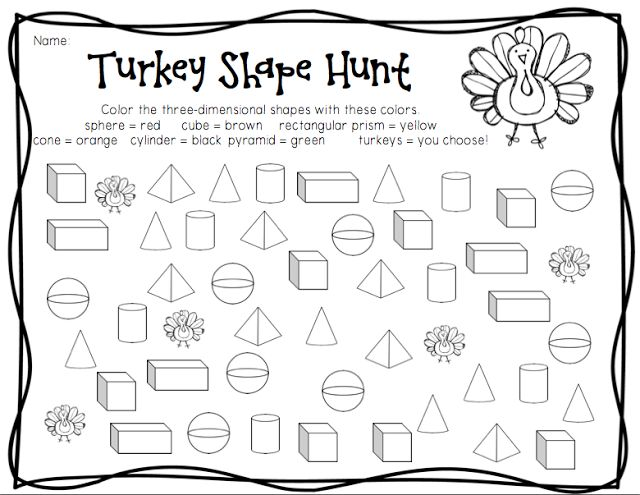 three dimensional shapes coloring pages - photo#23