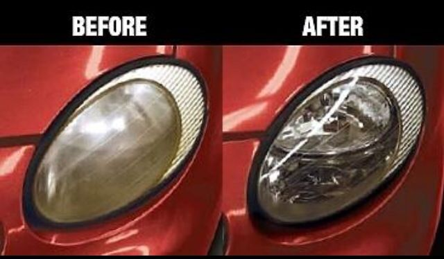 headlight restoration before after i tint world services auto detailing tint world services. Black Bedroom Furniture Sets. Home Design Ideas