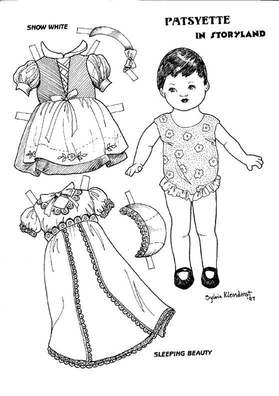 168 best coloring paper dolls images on pinterest | vintage paper ... - Baby Doll Coloring Pages Printable