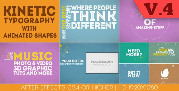 #Kinetic #Typography With Animated Shapes. Play preview video