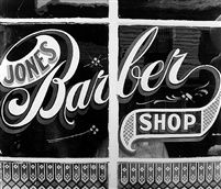Peter Sekaer - Jones Barber Shop, Bowling Green, Va., (1936)