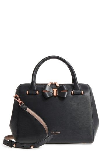 b8dd6dc28 TED BAKER SMALL BOWSIIA LEATHER BOWLER BAG - BLACK.  tedbaker  bags   shoulder bags  hand bags  leather  satchel