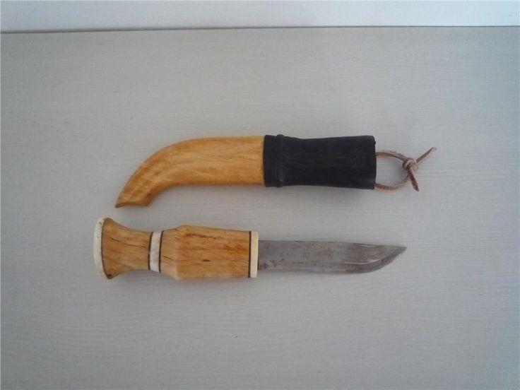 Handgjord kniv i masurbjörk. Mkt fin! på Tradera.com - Jaktknivar och
