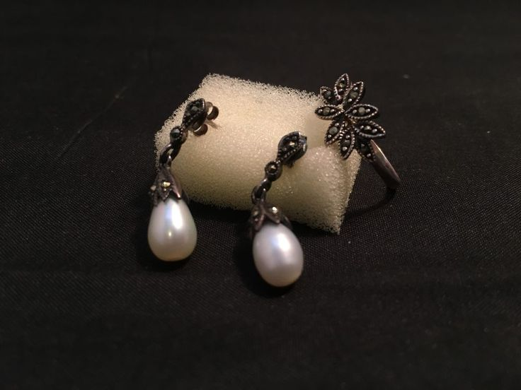 Pearl Earrings and Ring Set (J-11) in Jewellery & Watches, Fashion Jewellery, Sets | eBay!