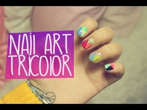 ▶ Nail art tricolor - tricolour nail art - YouTube