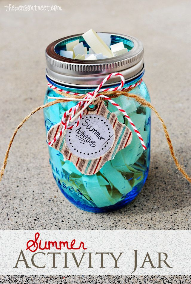 Don't let boredom take over your house with this Summer Activity Jar for Kids at thebensontreet.com #freeprintale