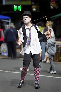 Street Performer, Thieves Alley Market Day: Serious Business!