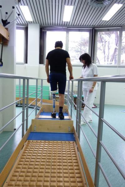 Vigorso di Budrio festeggia 50 anni: Training riabilitativo di addestramento all'uso della protesi.